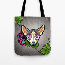 Chihuahua in Moo - Day of the Dead Sugar Skull Dog Tote Bag