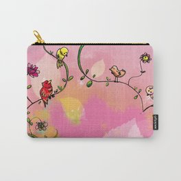 Birds - Pink Carry-All Pouch