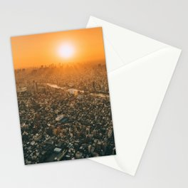 City and the sky Stationery Cards