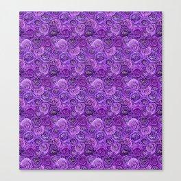 valentines roses in purple / ultraviolet Canvas Print
