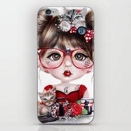Cat Crazy Chloe - MunchkinZ Elf - Sheena Pike Art & Illustration iPhone Skin