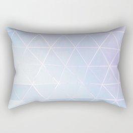Blue Geometric Art Rectangular Pillow