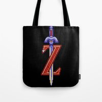 sword Tote Bags featuring Skyward Sword by mirodeniro