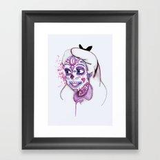 Sugar Skull Alice Framed Art Print