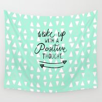 positive Wall Tapestries featuring Positive Thought by Tangerine-Tane