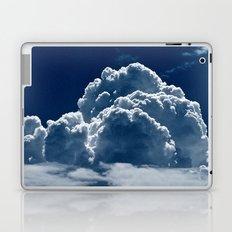 Puffy Cumulus clouds on Deep Blue Sky Laptop & iPad Skin