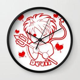 Kawaii Kiddies Cute Devil Wall Clock