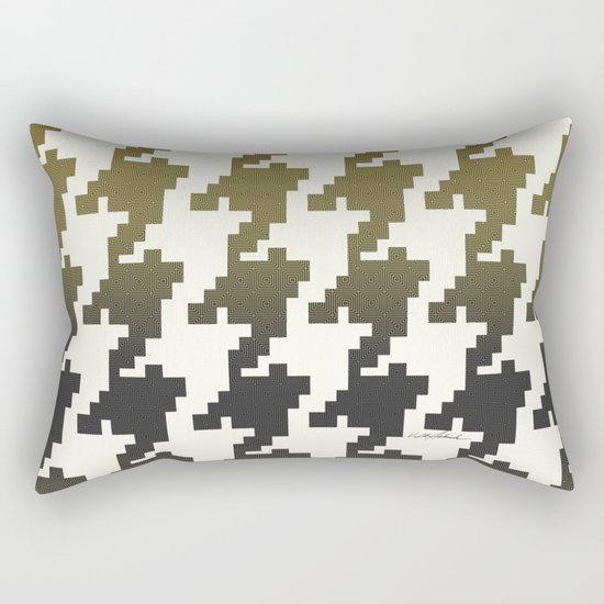The Houndstooth Vault Rectangular Pillow