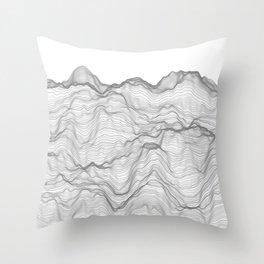 Soft Peaks Throw Pillow
