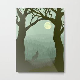 wolf forest Metal Print