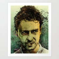 fight Art Prints featuring Schizo - Edward Norton by Fresh Doodle - JP Valderrama