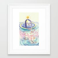 keep calm Framed Art Prints featuring keep calm by mloyan
