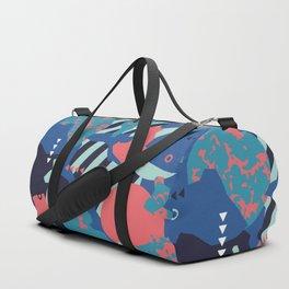 Vivid Collaged Geometric Tribal Abstract Geo Native Duffle Bag
