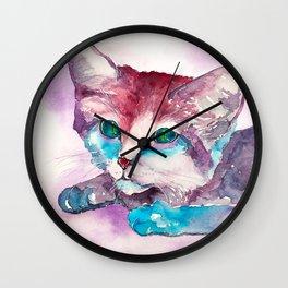 cat#21 Wall Clock