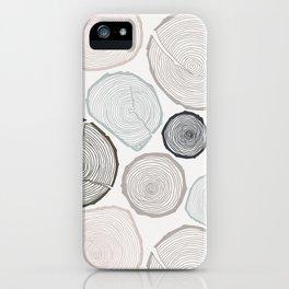 Tree Rings iPhone Case