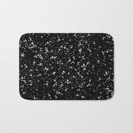 Minimal Splatter Pattern - Black Background Bath Mat