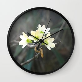 Wild Orchids Wall Clock