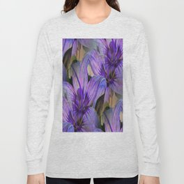 Vintage Painted Lavender Lily Long Sleeve T-shirt