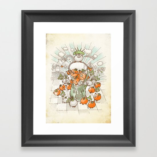 Salsacrifice! Framed Art Print