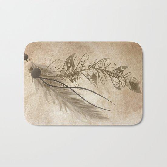 Bohemian Feather Bath Mat