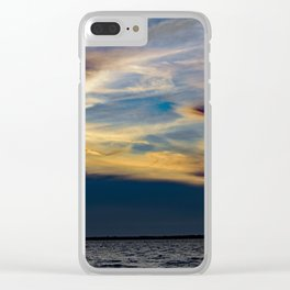 Beauty Above The Shoreline Clear iPhone Case