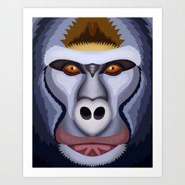 Gorila Art Print