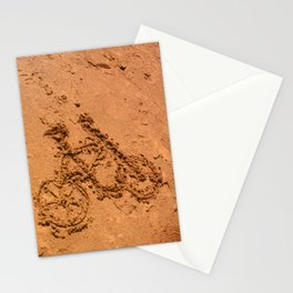 sand bicycle Stationery Cards