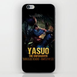 League of Legends YASUO - The Unforgiven - video games champion iPhone Skin