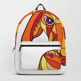 Brahma Bull Head Mosaic Color Backpack