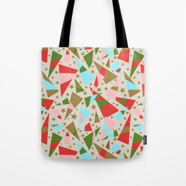 Modern Christmas Pattern Tote Bag