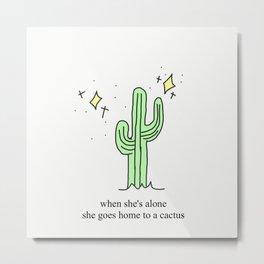 Harry Styles Cactus Metal Print