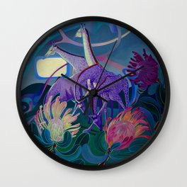 Moonlight dances Wall Clock