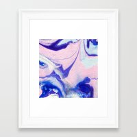 lucy Framed Art Prints featuring Lucy by Jenna Mhairi