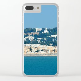 Breathtaking view of the city of Tunis from the sea Clear iPhone Case