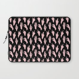 pink n black swipes Laptop Sleeve