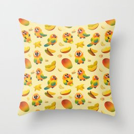 Lil' Mangoes Throw Pillow