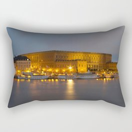 Stockholm Palace By Night Rectangular Pillow