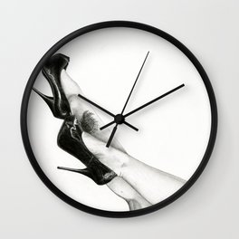 Legs Art Illustration Graphite Drawig Wall Clock