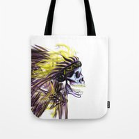 native american Tote Bags featuring Native by @Subliminal_society