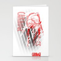 carnage Stationery Cards featuring CARNaGE by Psychojoe151