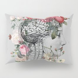 Beautiful Brain ~ Gray Pillow Sham