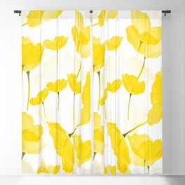 Light Yellow Poppies Spring Summer Mood #decor #society6 #buyart Blackout Curtain