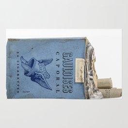 Gauloises 20 Cigarettes France Vintage Pack 1968 Rug