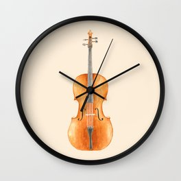Cello - Watercolors Wall Clock