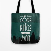 travel poster Tote Bags featuring Rapture Travel Poster by Bill Pyle