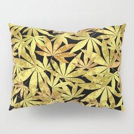 Gold Weed Pillow Sham