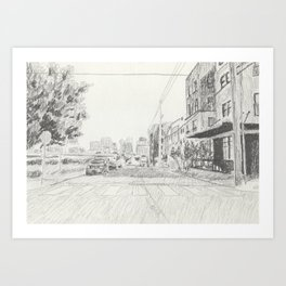 Downtown Nashville from Germantown Art Print