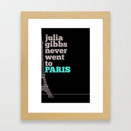 Julia Gibbs Framed Art Print