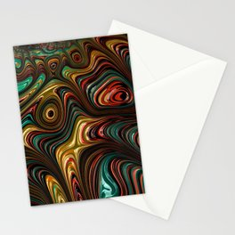 Trippy Fractal Stationery Cards