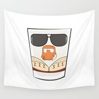 lebowski Wall Tapestries featuring THE BIG LEBOWSKI by Los Carlos